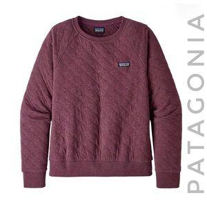 PATAGONIA organic quilted crewneck sweatshirt